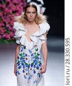 Купить «Madrid Fashion Week Spring/Summer 2017 - Juana Martín - Catwalk Featuring: Model Where: Madrid, Spain When: 18 Sep 2016 Credit: Oscar Gonzalez/WENN.com», фото № 28330595, снято 18 сентября 2016 г. (c) age Fotostock / Фотобанк Лори