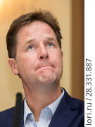 Купить «Nick Clegg, former leader of the Liberal Democrats, addressing the party's conference on the subject of education, at the Brighton Conference Centre in...», фото № 28331887, снято 19 сентября 2016 г. (c) age Fotostock / Фотобанк Лори