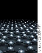 Graphene layer molecular model 3 d. Стоковая иллюстрация, иллюстратор EugeneSergeev / Фотобанк Лори