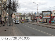 Купить «Ногинск, улица Патриаршая», эксклюзивное фото № 28340935, снято 19 апреля 2017 г. (c) Дмитрий Неумоин / Фотобанк Лори