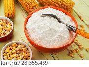 Купить «Starch and corn cob», фото № 28355459, снято 17 марта 2018 г. (c) Надежда Мишкова / Фотобанк Лори