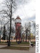 Купить «Город Ногинск,  пожарная каланча», эксклюзивное фото № 28360135, снято 29 апреля 2018 г. (c) Дмитрий Неумоин / Фотобанк Лори