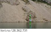 Купить «Mouth of river Zrmanja, northern Dalmatia, Croatia», видеоролик № 28362731, снято 6 сентября 2017 г. (c) BestPhotoStudio / Фотобанк Лори