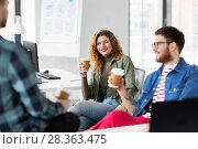 Купить «creative team drinking coffee at office», фото № 28363475, снято 1 апреля 2018 г. (c) Syda Productions / Фотобанк Лори