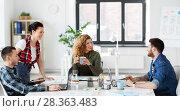 Купить «creative team working on user interface at office», фото № 28363483, снято 1 апреля 2018 г. (c) Syda Productions / Фотобанк Лори
