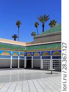 Купить «Courtyard, Bahia Palace, UNESCO World Heritage Site, Marrakesh (Marrakech), Morocco, North Africa, Africa», фото № 28367127, снято 28 марта 2017 г. (c) age Fotostock / Фотобанк Лори