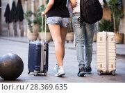 Купить «Couple going the historic city center», фото № 28369635, снято 25 мая 2017 г. (c) Яков Филимонов / Фотобанк Лори