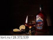 Купить «Cognac Jacques Laffitte XO Superior», фото № 28372539, снято 26 апреля 2018 г. (c) Мельников Дмитрий / Фотобанк Лори