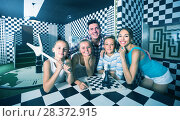 Купить «Family is satisfied by solving quest», фото № 28372915, снято 3 августа 2017 г. (c) Яков Филимонов / Фотобанк Лори