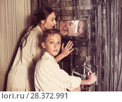 Купить «Family is saving each other from being locked up», фото № 28372991, снято 3 августа 2017 г. (c) Яков Филимонов / Фотобанк Лори