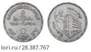 Купить «Монета 5 пиастров. Египет. 75th Anniversary of National Bank of Egypt», фото № 28387767, снято 22 января 2016 г. (c) Евгений Ткачёв / Фотобанк Лори