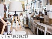 Купить «Vintage furniture and home design objects in shop», фото № 28388723, снято 9 ноября 2017 г. (c) Яков Филимонов / Фотобанк Лори