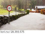 Купить «Flood waters on the Under Loughrigg Road, Ambleside, by Rothay Bridge, Lake District on Saturday 5th December 2015, during torrential rain from storm Desmond. England, UK, December 2015.», фото № 28393575, снято 22 сентября 2018 г. (c) Nature Picture Library / Фотобанк Лори
