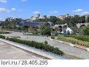 Купить «Недостроенный культурный, концертный центр, зал в парке Рике летом. Город Тбилиси, Грузия», эксклюзивное фото № 28405295, снято 12 июля 2017 г. (c) Алексей Гусев / Фотобанк Лори