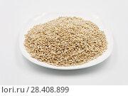 Grains of pearl barley. Стоковое фото, фотограф Александр Малышев / Фотобанк Лори