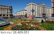 Купить «Moscow, Russia - May 12. 2018. State Duma from the direction of Manezhnaya Square.», видеоролик № 28409051, снято 12 мая 2018 г. (c) Володина Ольга / Фотобанк Лори