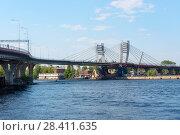 Купить «Мост Бетанкура. Санкт-Петербург», эксклюзивное фото № 28411635, снято 15 мая 2018 г. (c) Александр Щепин / Фотобанк Лори