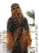 Купить «Chewbecca during 'Solo: a Star Wars Story' photocall, 71st Cannes Film Festival, Cannes 15 May 2018.», фото № 28417907, снято 15 мая 2018 г. (c) age Fotostock / Фотобанк Лори