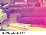 Купить «Image of new furniture options in the store», фото № 28420539, снято 19 июня 2017 г. (c) Яков Филимонов / Фотобанк Лори