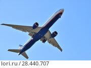 Купить «Sheremetyevo, Russia - May 09. 2018. Boeing 777 of airline Aeroflot», фото № 28440707, снято 9 мая 2018 г. (c) Володина Ольга / Фотобанк Лори