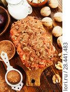 Купить «Beetroot pie with walnuts», фото № 28441483, снято 28 января 2018 г. (c) Надежда Мишкова / Фотобанк Лори