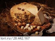 Купить «Сыр губернаторский с плесенью», фото № 28442167, снято 12 декабря 2018 г. (c) Марина Володько / Фотобанк Лори