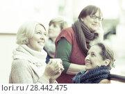 Купить «Mature women drinking tea», фото № 28442475, снято 16 октября 2018 г. (c) Яков Филимонов / Фотобанк Лори