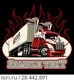 Купить «Vector cartoon semi truck template», иллюстрация № 28442891 (c) Александр Володин / Фотобанк Лори