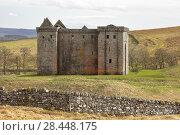 Купить «Hermitage Castle, Newcastleton, Roxburghshire, Scottish Borders, Scotland, built in the 14th and 15th centuries, located in the debatable lands between England and Scotland. United Kingdom, Europe.», фото № 28448175, снято 18 апреля 2018 г. (c) age Fotostock / Фотобанк Лори