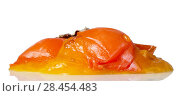 Купить «Spoiled fruit, rotten persimmon fruit, isolated on white», фото № 28454483, снято 20 декабря 2017 г. (c) Сергей Молодиков / Фотобанк Лори