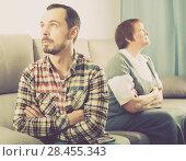 Купить «Mother and son arguing», фото № 28455343, снято 29 февраля 2020 г. (c) Яков Филимонов / Фотобанк Лори