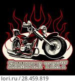 Купить «Vector Cartoon Motorbike», иллюстрация № 28459819 (c) Александр Володин / Фотобанк Лори