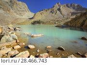 Купить «Lake in mountains», фото № 28466743, снято 20 сентября 2017 г. (c) александр жарников / Фотобанк Лори
