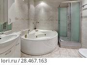 Купить «Интерьер ванной комнаты», фото № 28467163, снято 23 ноября 2017 г. (c) Игорь Долгов / Фотобанк Лори