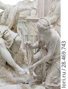 Купить «School of sculptors, restoration of sculptures, workshop repair depot», фото № 28469743, снято 2 марта 2014 г. (c) Сурикова Ирина / Фотобанк Лори