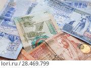 Купить «Jordanian dinars banknotes with kings», фото № 28469799, снято 19 мая 2018 г. (c) EugeneSergeev / Фотобанк Лори