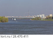 Купить «A spring day in the Siberian city of Omsk. View from the Irtysh River», фото № 28470411, снято 21 мая 2018 г. (c) Круглов Олег / Фотобанк Лори