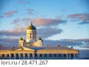 Купить «Cathedral in Helsinki, Finland», фото № 28471267, снято 9 октября 2015 г. (c) Sergey Borisov / Фотобанк Лори