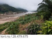 Scenic view of river, River Mekong, Laos. Стоковое фото, фотограф Keith Levit / Ingram Publishing / Фотобанк Лори