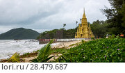 Купить «Buddhist temple on beach, Laem Sor Pagoda, Koh Samui, Surat Thani Province, Thailand», фото № 28479687, снято 8 июля 2020 г. (c) Ingram Publishing / Фотобанк Лори