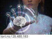 Купить «Doctor working with futuristic touch screen interface», фото № 28480183, снято 16 мая 2014 г. (c) Ingram Publishing / Фотобанк Лори