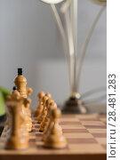 Купить «Chess pieces on board at home», фото № 28481283, снято 10 октября 2014 г. (c) Ingram Publishing / Фотобанк Лори