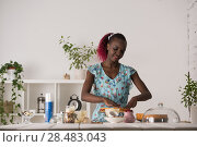 Купить «Young Woman Cooking at home. Healthy Food. Dessert Concept. Healthy Lifestyle. Cooking At Home. Prepare Food», фото № 28483043, снято 1 декабря 2014 г. (c) Ingram Publishing / Фотобанк Лори