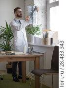 Купить «Doctor working with ct scan at hos workplace», фото № 28483343, снято 5 июня 2015 г. (c) Ingram Publishing / Фотобанк Лори