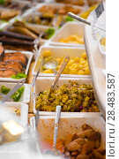 Купить «Grocery store. Different served meals on sale», фото № 28483587, снято 16 июля 2013 г. (c) Ingram Publishing / Фотобанк Лори