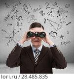 Купить «Young teacher at university with math symbols overhead looking for talent. Education concept», фото № 28485835, снято 22 июля 2019 г. (c) Ingram Publishing / Фотобанк Лори