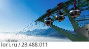 Купить «Aerial city view of Grenoble with cable car, France», фото № 28488011, снято 7 декабря 2017 г. (c) Яков Филимонов / Фотобанк Лори