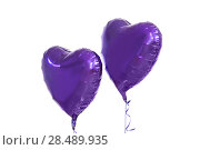 Купить «close up of helium balloons over white background», фото № 28489935, снято 6 марта 2018 г. (c) Syda Productions / Фотобанк Лори
