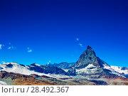 Купить «Alps Matterhorn mountain summer landscape», фото № 28492367, снято 21 сентября 2019 г. (c) Ingram Publishing / Фотобанк Лори