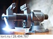 Купить «Vise tool on carpenter table», фото № 28494787, снято 5 ноября 2013 г. (c) Ingram Publishing / Фотобанк Лори